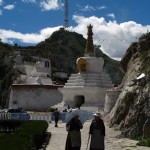 Stupa_vechea intrare in Lhasa