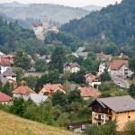 Bran et son chateau, Transylvanie, Roumanie.
