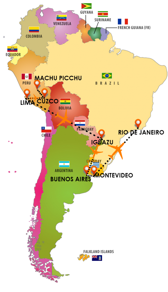 south-america-flags - location - ORASE avion